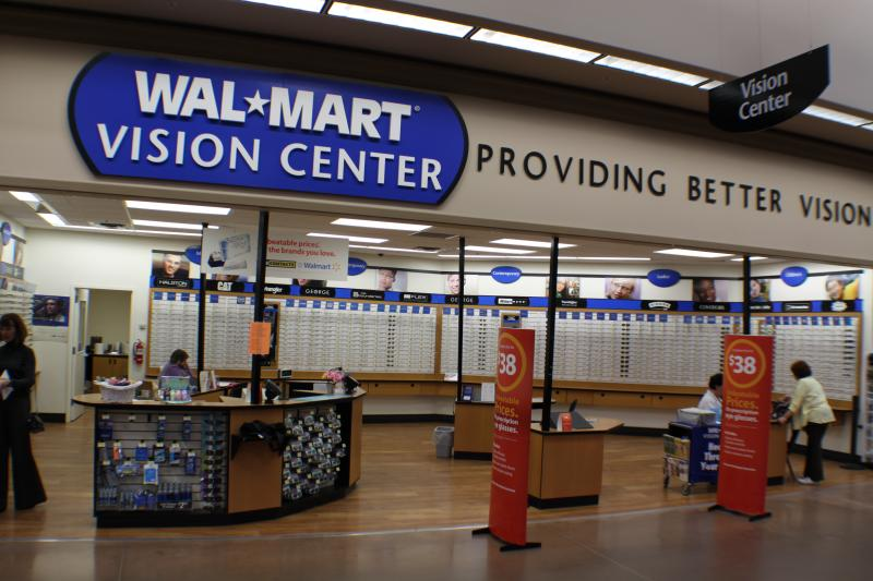 Walmart optical center products services prices for Fishing license va walmart